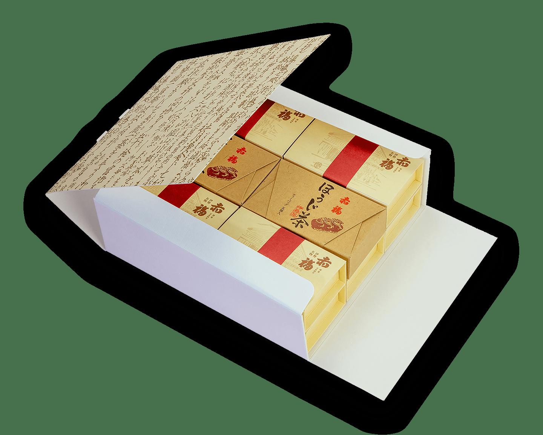 12箱セット<br />銘々箱(2個入り)×10箱 <br /> ほうじ茶(5個入り)×2箱
