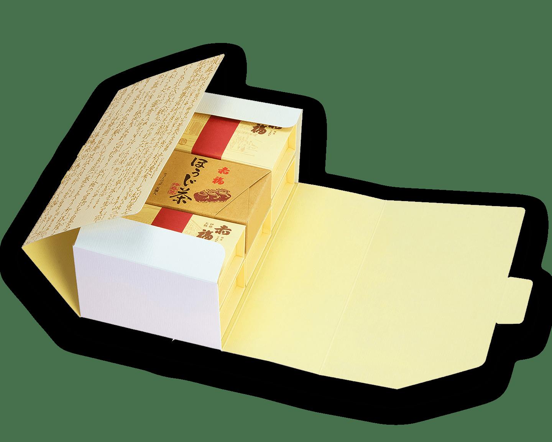 6箱セット<br />銘々箱(2個入り)×5箱 <br /> ほうじ茶(5個入り)×1箱